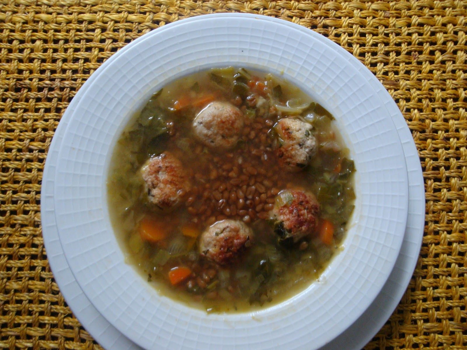 Laurilee's Healthy Cooking Blog- Follow me here and get recipe for Lightened up Italian Wedding Soup with Chicken Meat balls