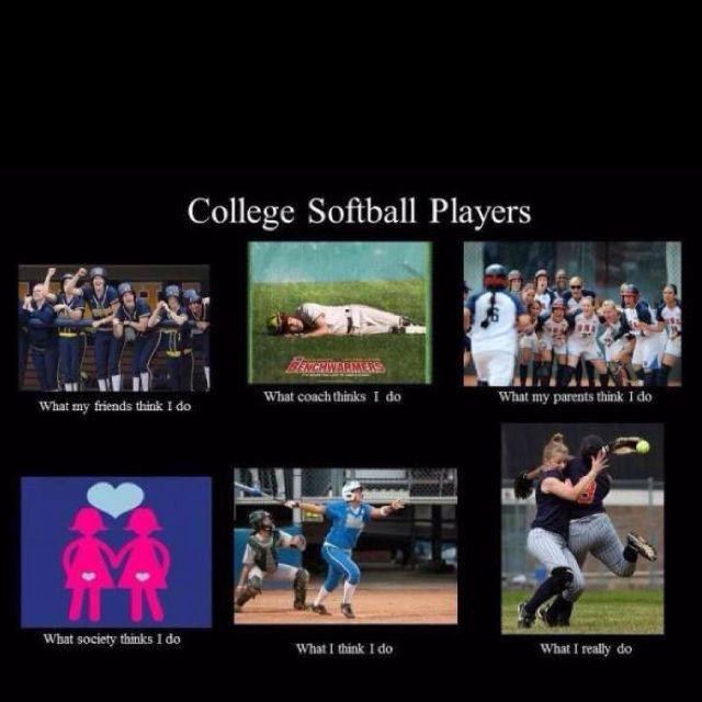 College Softball With Images Softball Players Softball