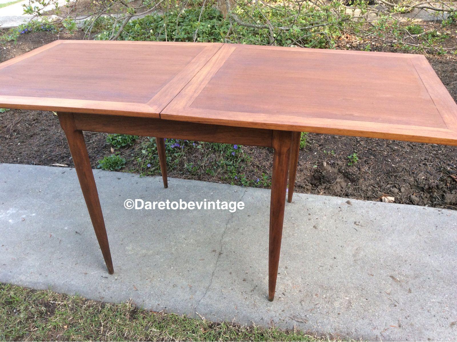 Mid Century Modern Danish Flip Top Table Danish Style Expandable Table Mid Century Modern Danish Fold Out Scandinavian Table Flip Top Table Vintage House