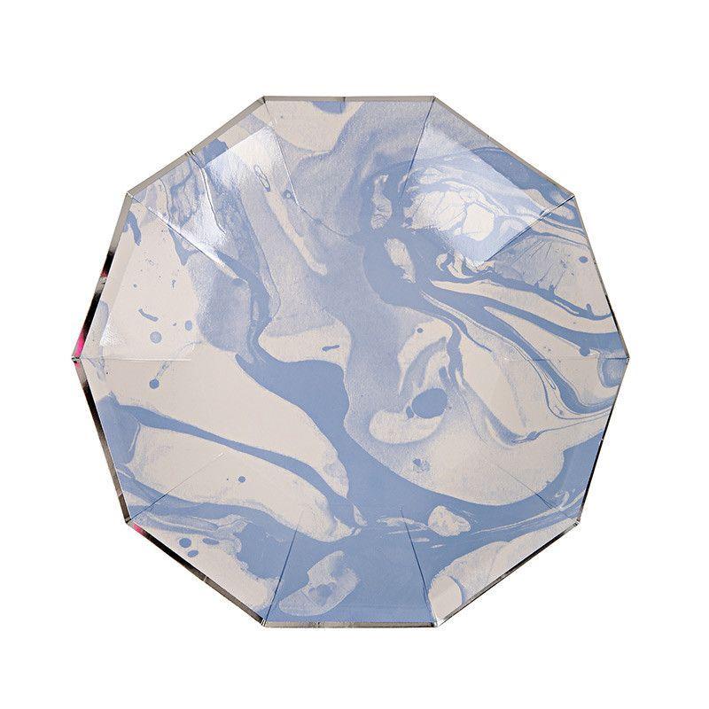 BLUE MARBLE SMALL DESSERT PLATE