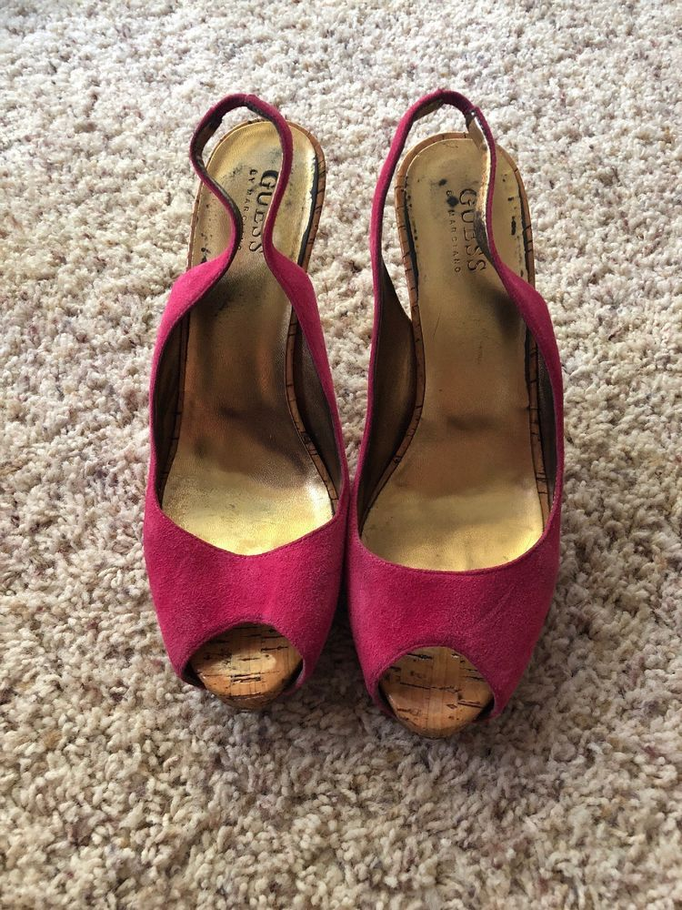 347a51f43511 Womens Guess By Marciano Pink Sling Back Pumps Size 8.5