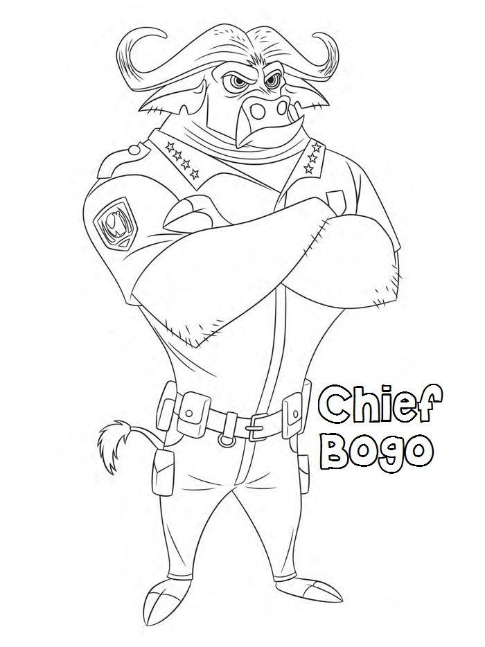 Printable-chief-bogo-zootopia-coloring-pagesjpg (700×934 - new zootopia coloring pages free