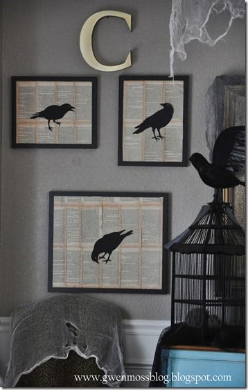 Halloween Decorating With Black Crows Halloween Decorations Halloween Themes Halloween Deco
