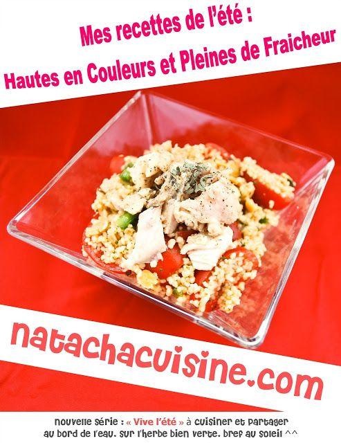 Natachacuisine : Le blog cuisine à DEVORER des Yeux: Taboulé Basilic, Tomate et Poulet mariné