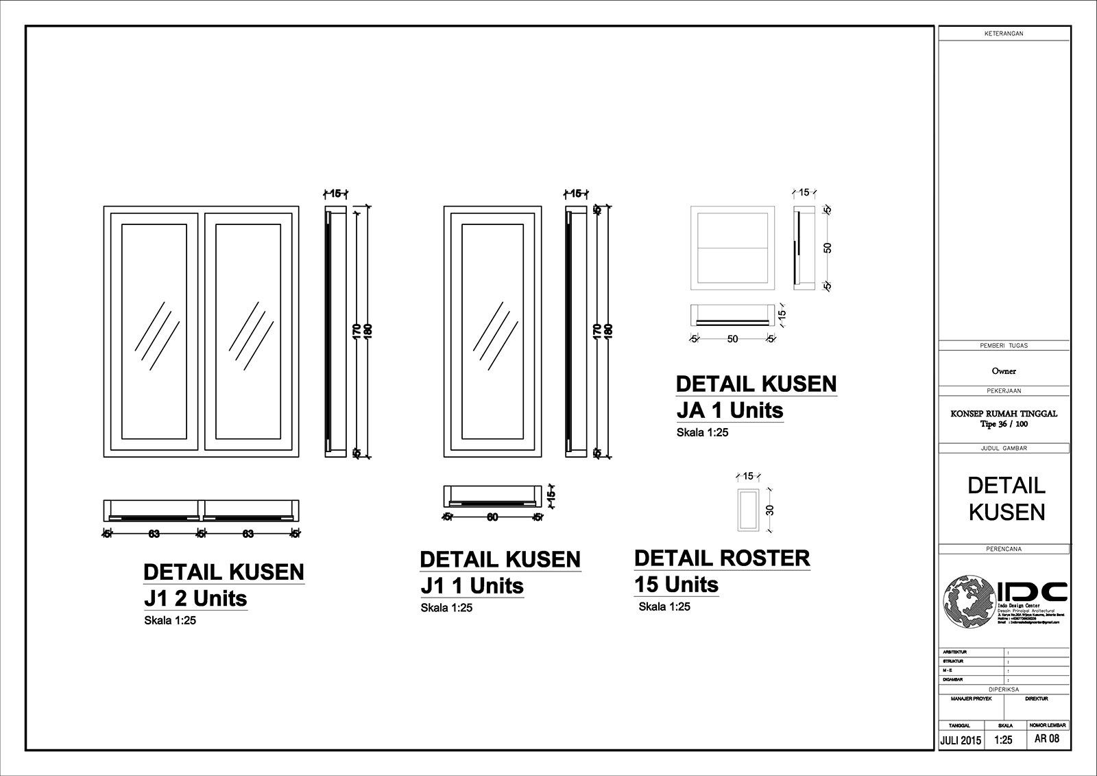 Ukuran Kusen Jendela Rumah Minimalis Cek Bahan Bangunan Ukuran jendela kamar tidur minimalis