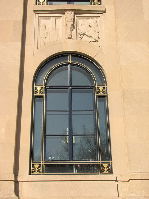 The Perelman Building (window detail) by chrisinphilly5448, via Flickr