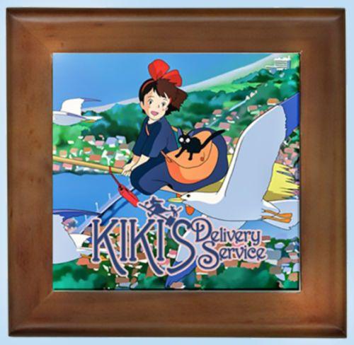 Kiki's Delivery Service NEW Beautiful Framed Tile - Cute Studio Ghibli Totoro