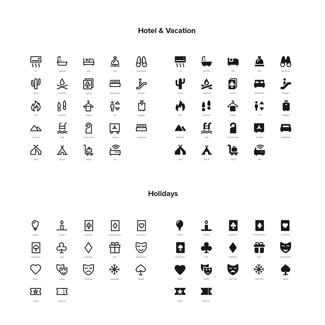 2 500 Line And Solid Icons Icon All Icon Html Presentation