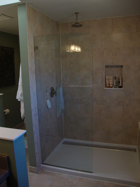 Stationary Glass Shower Panels Google Search Bathroom Ideas