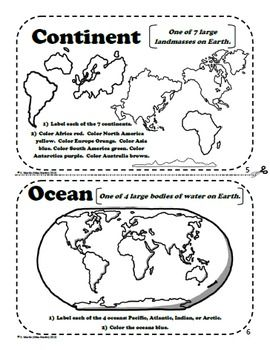 Maps and globes a printable book for introducing map skills maps and globes a printable book for introducing map skills gumiabroncs Choice Image