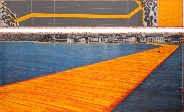 Christo, The Floating Piers, 2016. Disegno. Foto: André Grossmann.