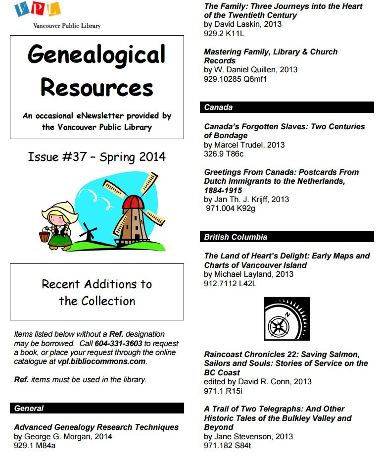 a3Genealogy: Vancouver Genealogy Tips - European Immigrants, Chinese and African American Ancestry