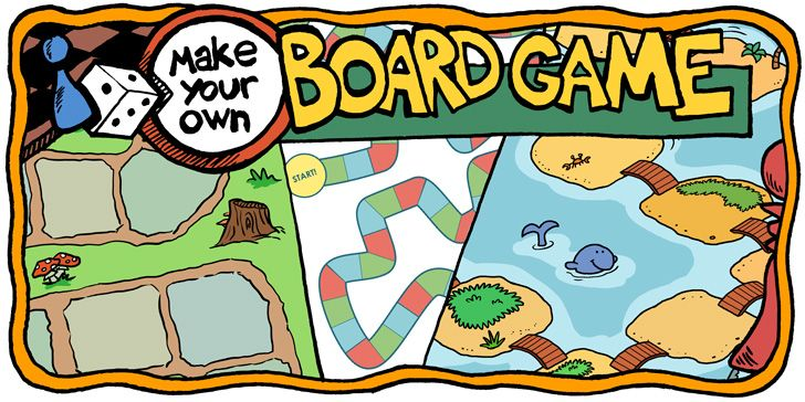 Make Your Own Board Game By Downloading A Free Blank Board Game