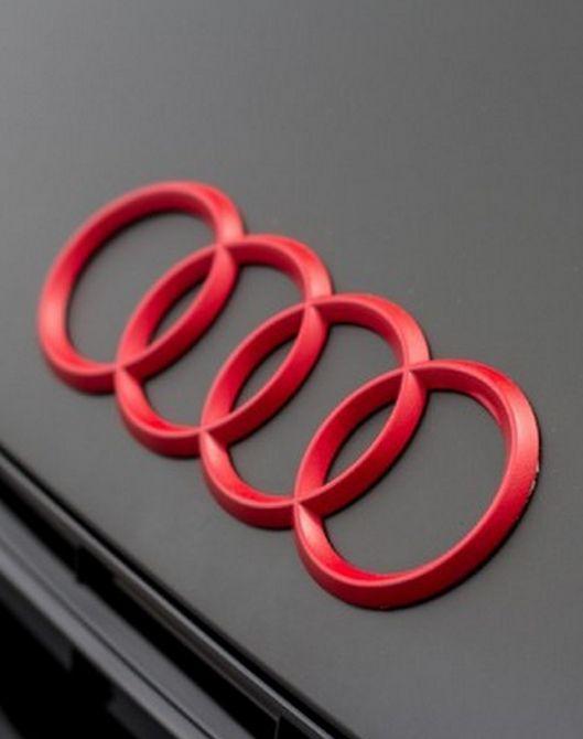 Audi Logo Red FourRings Color Cars Love Pinterest Logos - Audi car symbol