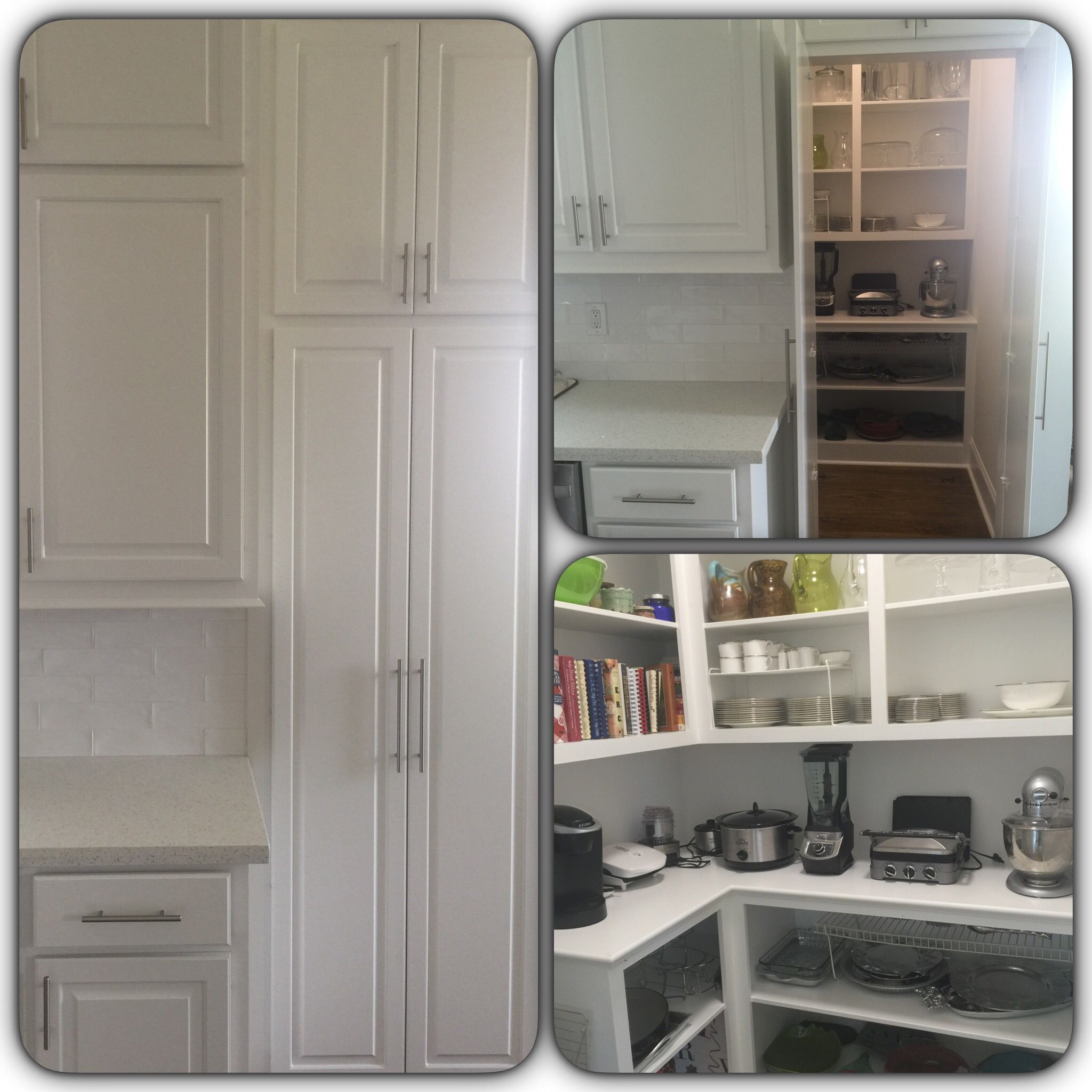 """""""hidden"""" pantry looks like a regular cabinet until you open it 
