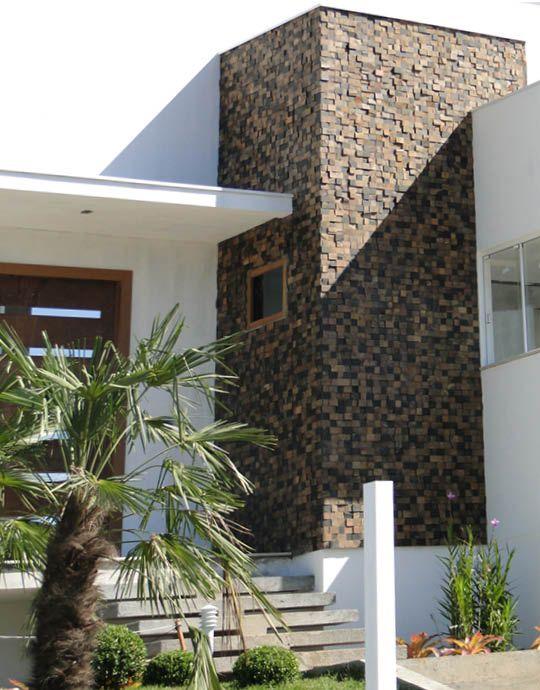 Fachada casas com pedra ferro pesquisa google projetos for Fachadas de casas pintadas