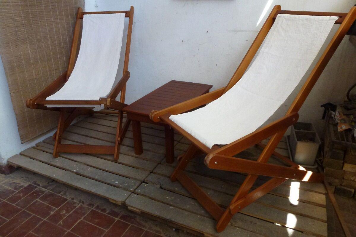 Poltronas sillas plegables tumbonas de tela muebles para for Sillas plegables jardin