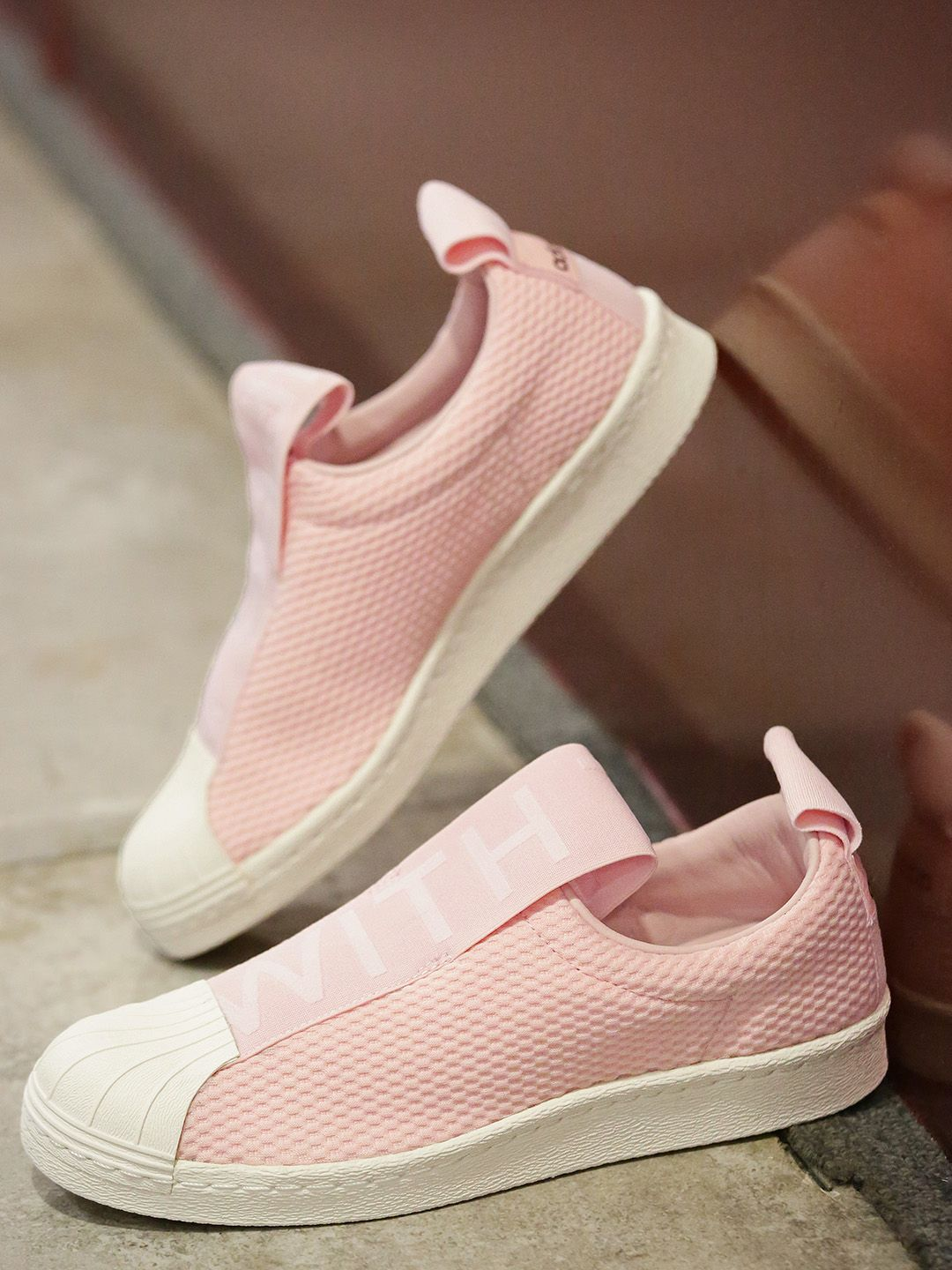fdc70a533b Adidas Originals  Women  Pink Superstar BW3S Slip-On  Sneakers  women   fashion  style