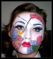 Ragdoll 2 Halloween Makeup Scary Makeup Rag Doll Makeup