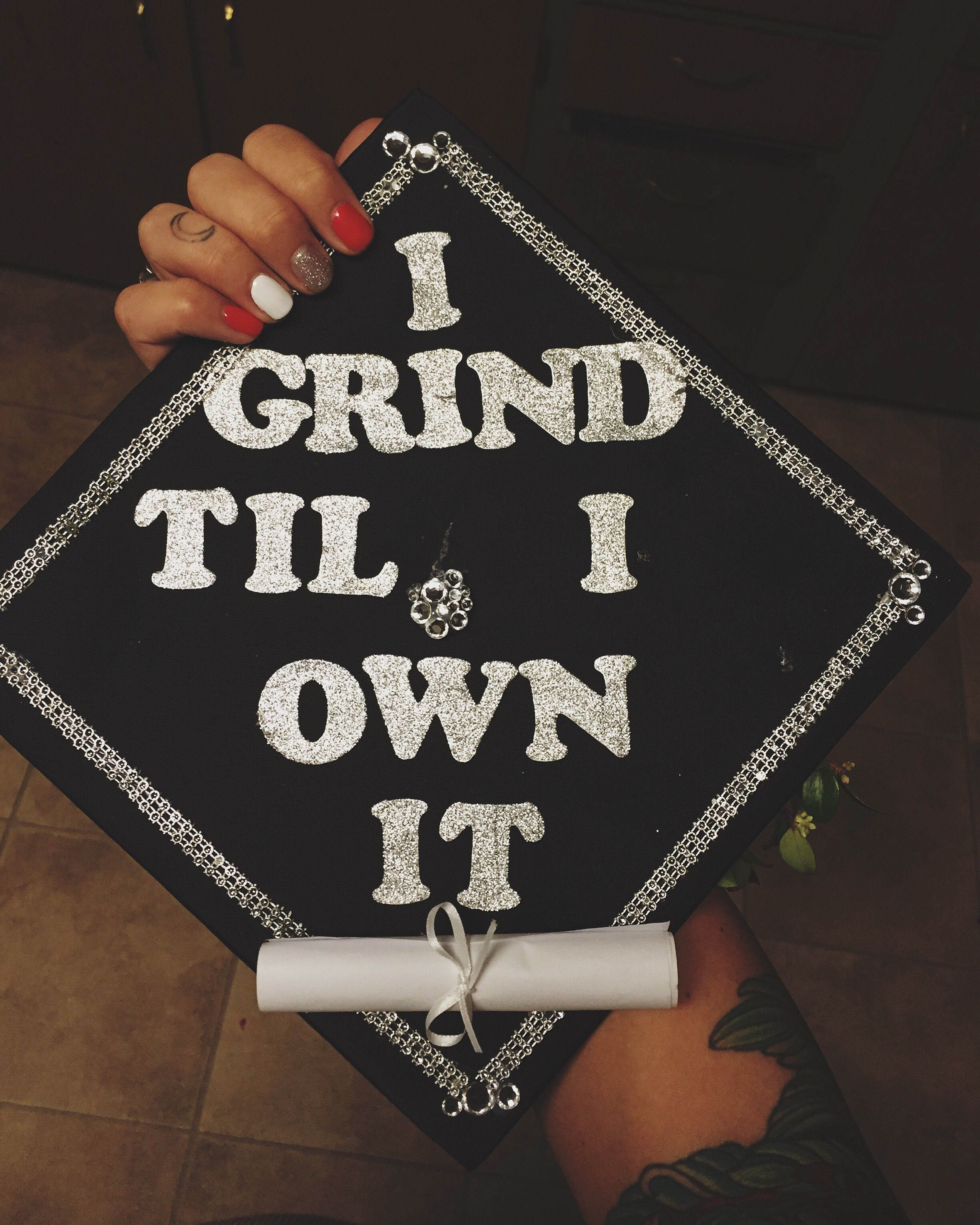 Graduation Cap Beyonce I Grind Til I Own It Mine