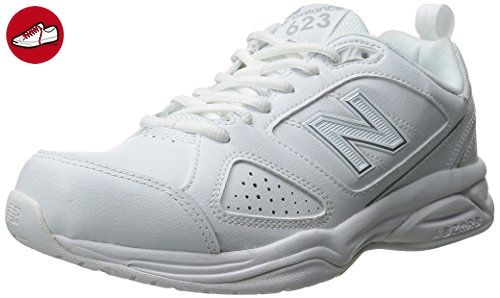 New Balance Damen WX623V3 Training Shoe, White/Silver, 42.5 C/D EU