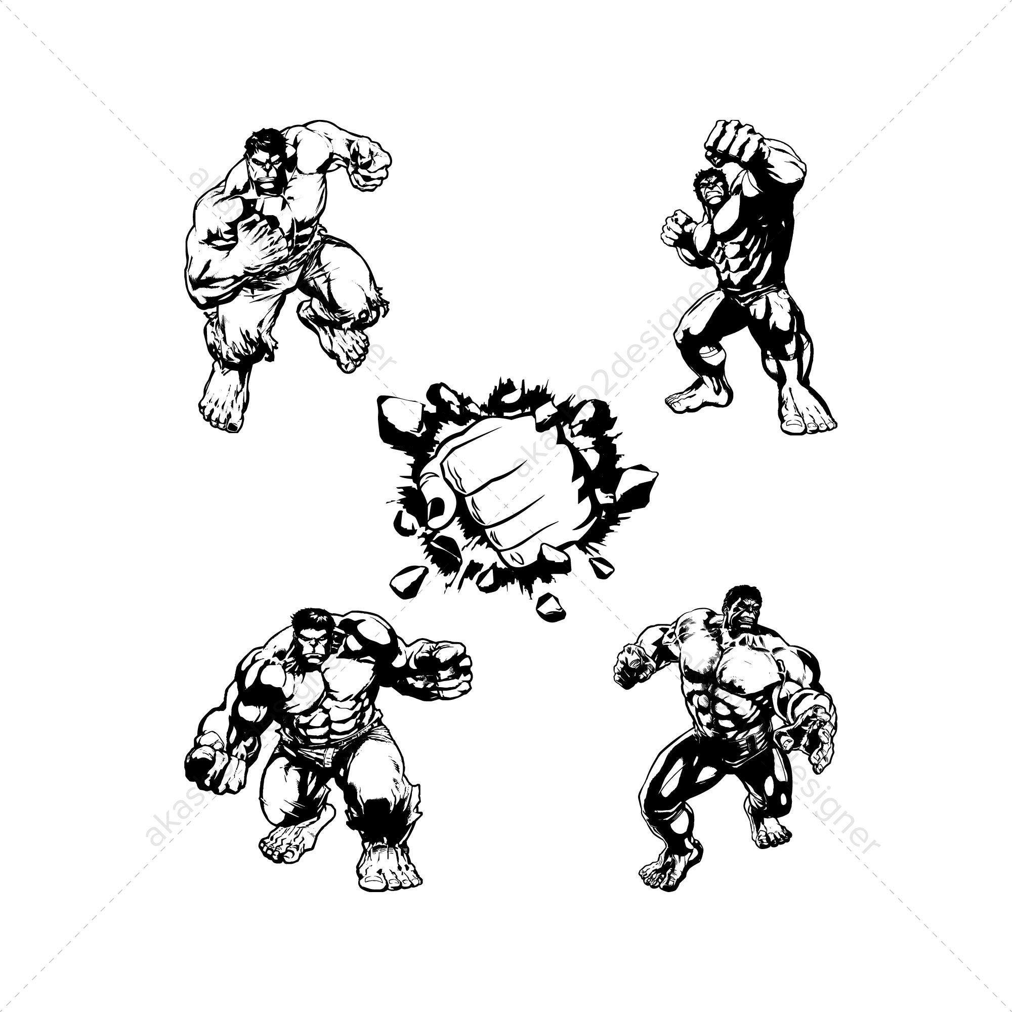 5 Hulk svg pack bundle png AI EPS vector digital file