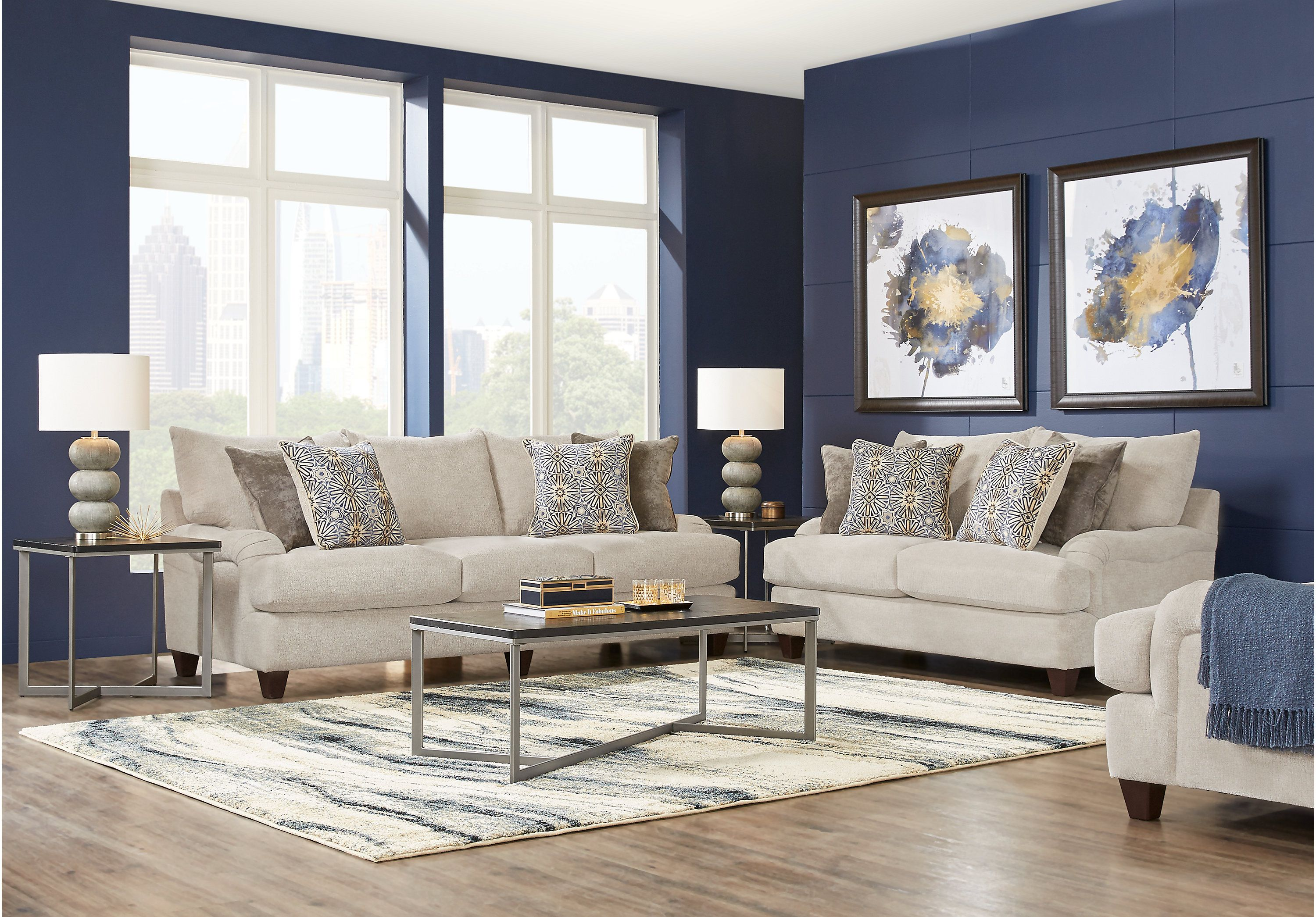 Best Waverly Park Beige 3 Pc Sectional Beige Living Rooms 640 x 480