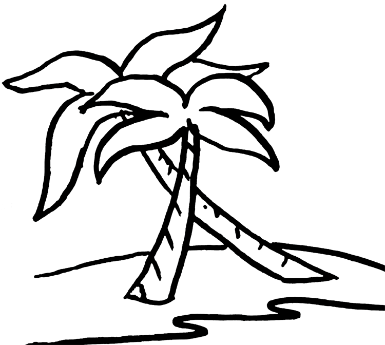 Palm Tree Beach Clipart Palm Tree Clip Art Clip Art Tree Coloring Page
