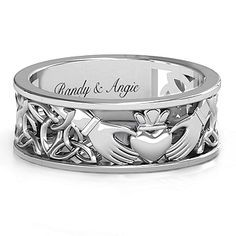 claddagh ladies silver blarney rings womens sterling ring corrib bands