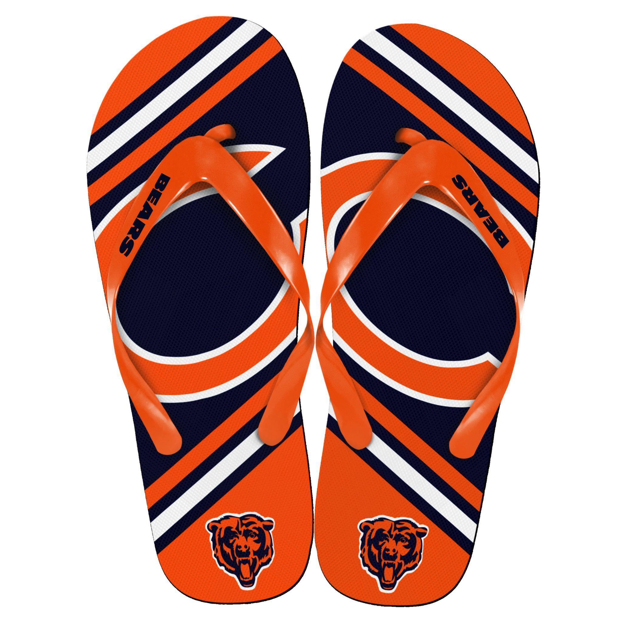 021fa8cf Chicago Bears NFL Unisex Big Logo Flip Flops | Baby sandals | Kids ...