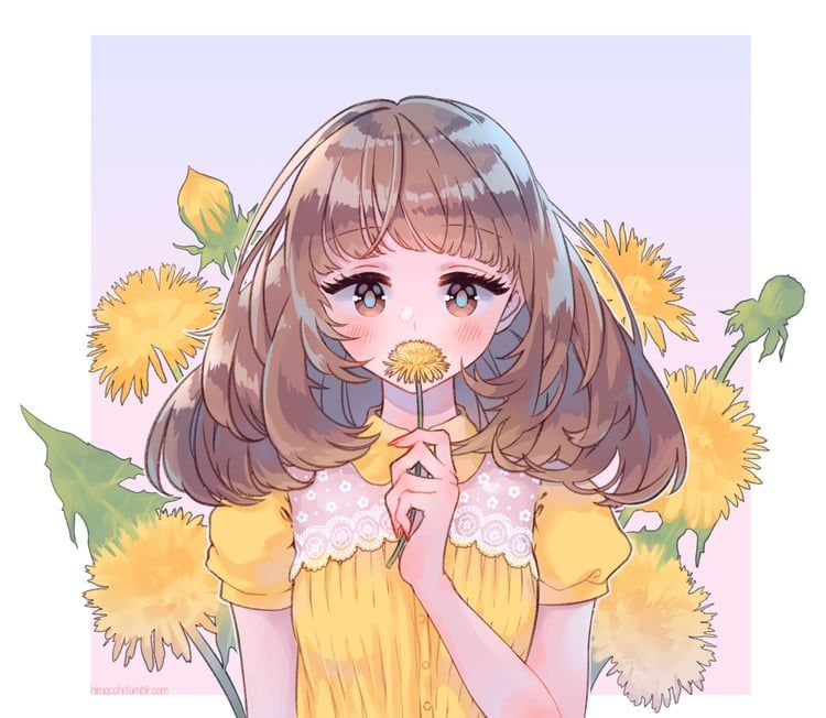 Beautiful Cute Anime Girl With Face Mask