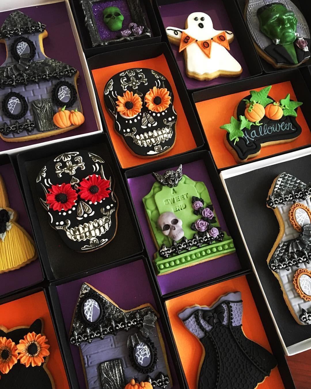 Lorena Rodriguez Halloween cookies Poison cookies #poisoncookies - Halloween Decorated Cookies