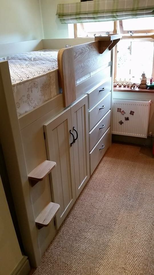 High Quality 4 Drawer Cabin Bed Specially Designed To Make Best Use Of A Box Room. This  White And Solid Oak Cabin Bed Has Storage In Drawers, Cupboard Hanging  Space, ...