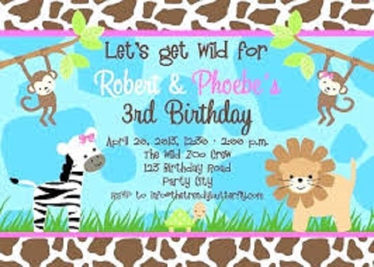 Free Zoo Birthday Invitation Template Birthday Invitations