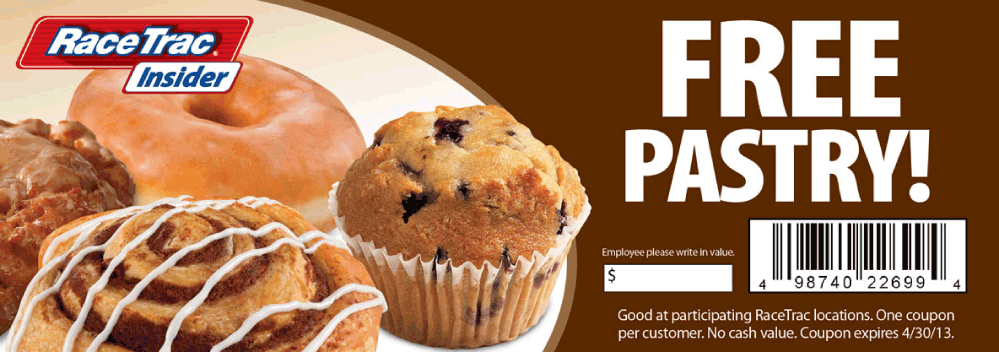 Pinned April 21st Free pastry at RaceTrac gas stations