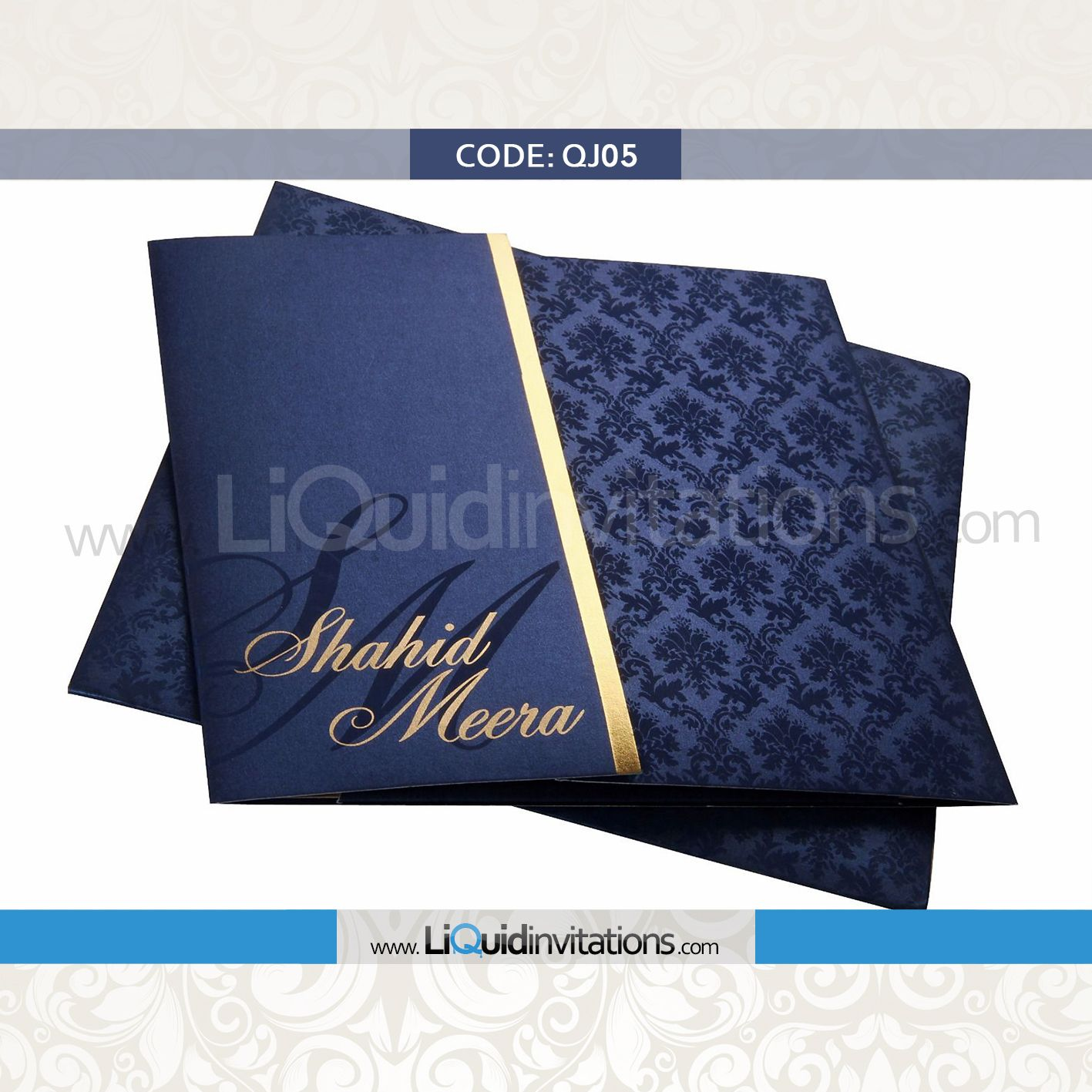 A Perfect Contemporary Indian Wedding Card With A Traditional