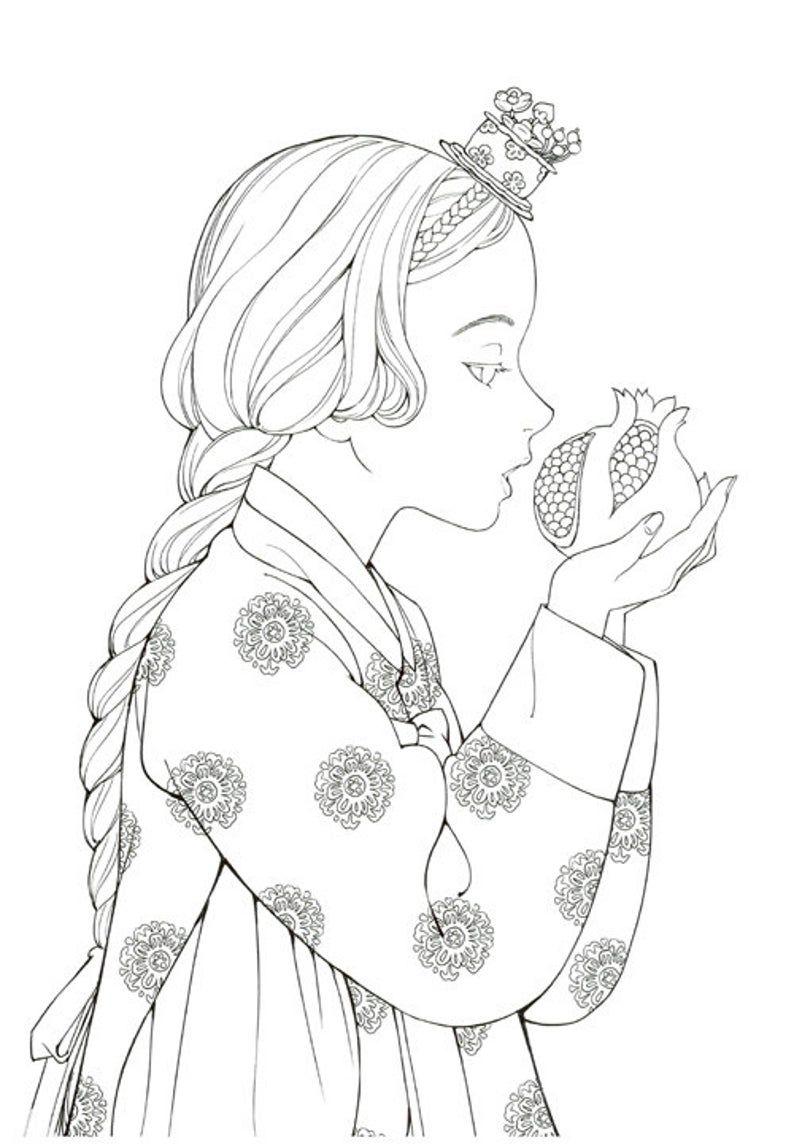 Fairy Tale Korean Illustrations Coloring Book Hanbok Fairy Tale Korean Coloring Book Wooh Nayoung 9791185502618 Korean Illustration Coloring Pages Coloring Books [ 1148 x 794 Pixel ]