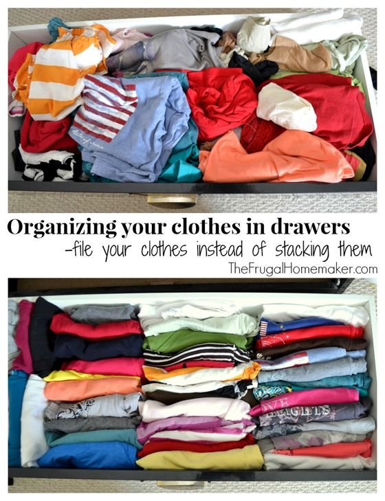 organizing your clothes in drawers by filing them instead of stacking them frugal homemaker. Black Bedroom Furniture Sets. Home Design Ideas