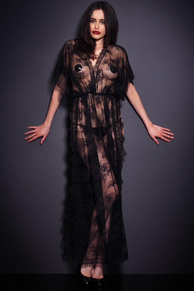 2793a4239073 Remis en stock   Back in stock  Longue nuisette robe en dentelle  transparente ouverte sur les côtés Prix  29.90  new  nouveau  japanattitude   underwear ...