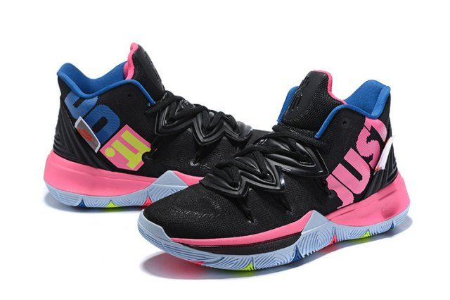 Nike Kyrie 5 Black Pink Multi Color Men S Basketball Shoes Irving Sneakers Nike014172 Adidas Basketball Shoes Nike Kyrie Nike Basketball Shoes