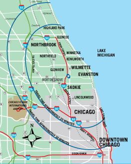 North Shore Chicago Map Chicago's North Shore CVB   Maps & Transit | North shore chicago