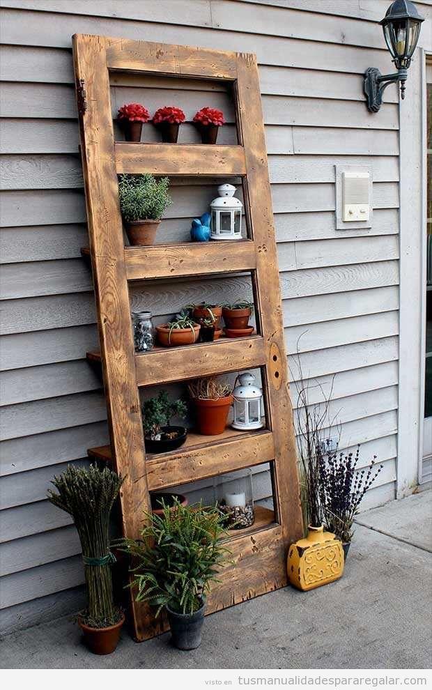 Manualidades madera reciclada con puertas antiguas 2 for Puertas viejas de madera