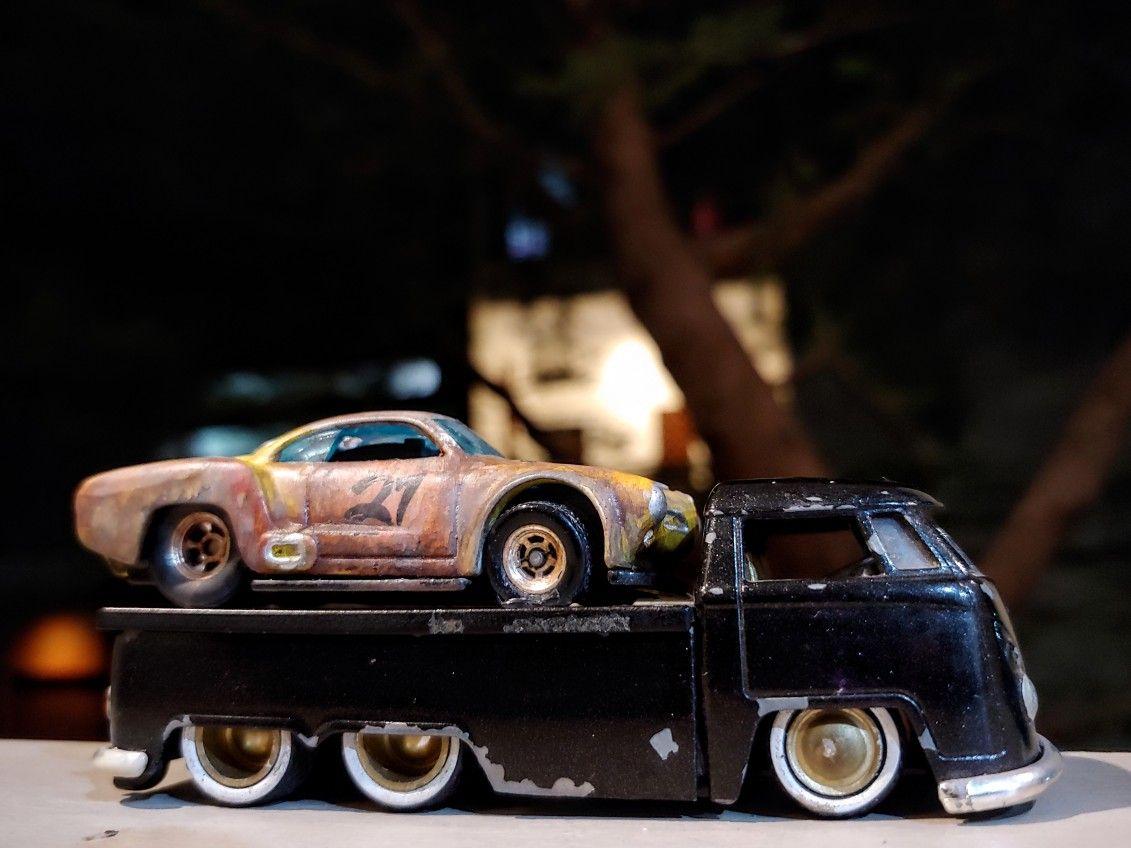 Jada car toys  My custom barn find Hot Wheels Volkswagen Karmann Ghia with Jada VW