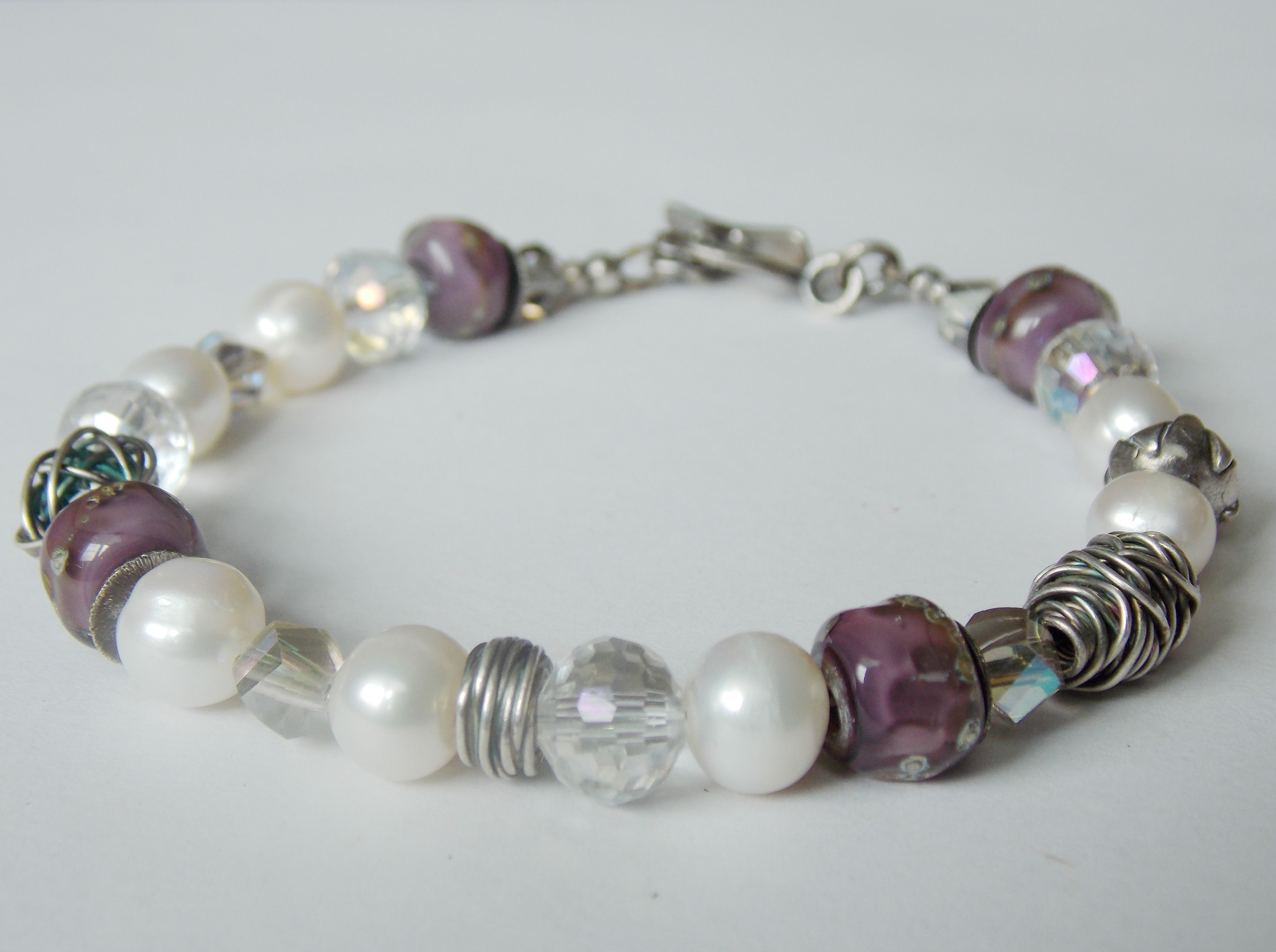 Misty Plum Bracelet!  -Oxidized sterling silver and hand-polished!
