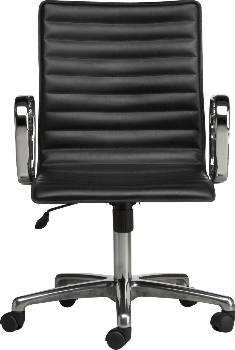 Ripple Black Leather Office Chair Black Leather Office Chair