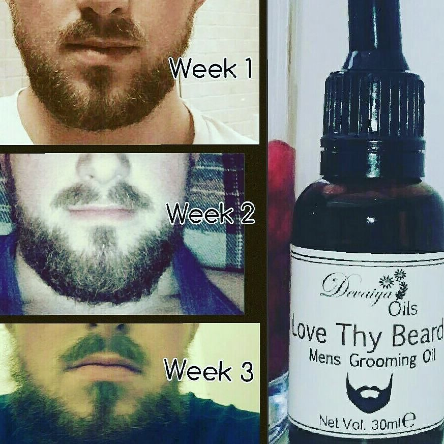 One of our happy customers showing beard shine condition and extra growth in only a few weeks of using our Love Thy Beard oil thankyou Blair for the photos! #lovethybeard #beardoil #devaiyaoils #beardgang #desibeards #beardshine #beardgrowth #naturalhealth #nochemicals by devaiyaoils