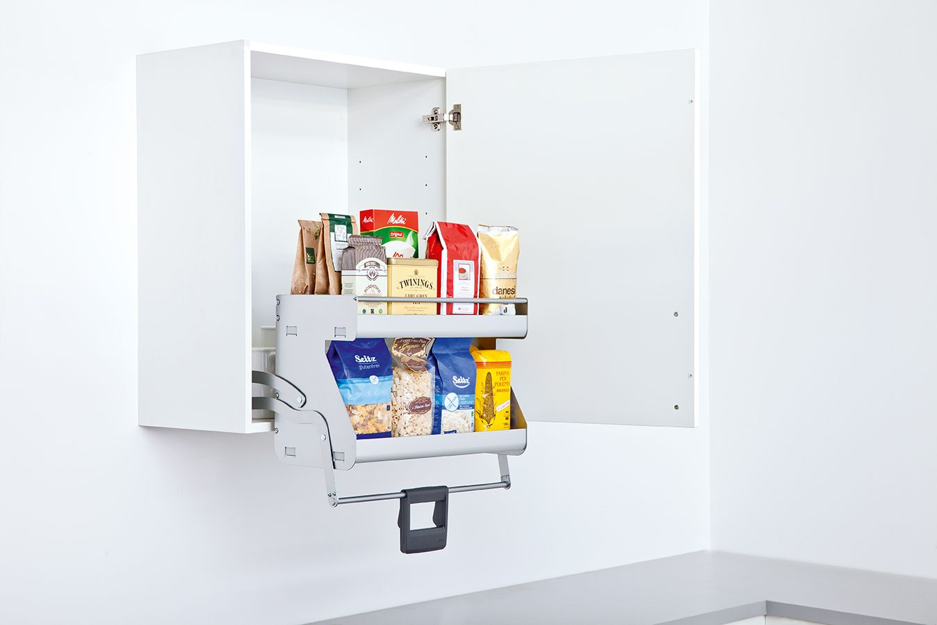 Clever-Kitchen-Storage. Schuller Pull Down Storage for Wall Units ...