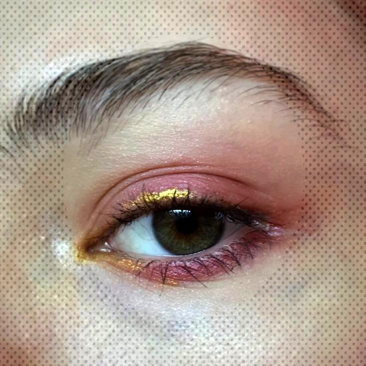 pink / gold eyeliner / schlicht / schimmer / matt – make up – pink / gold eyeliner / schlicht /