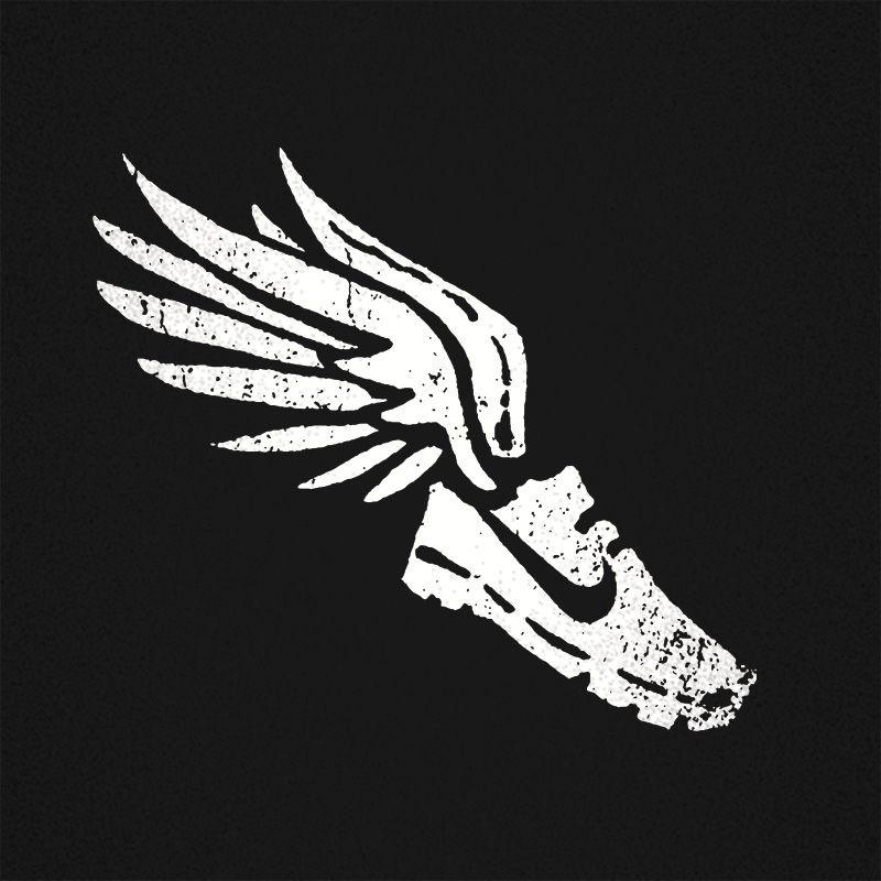 Nike Shoes On Running Logo Graphic Logo Design