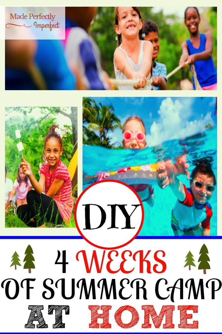 diy 4 weeks of summer camp themes at home camping ideas camping